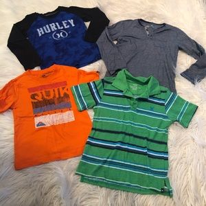 Hurley/quicksilver shirt bundle